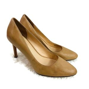 Cole Haan Tan Leather Pointy Toe Pumps Size 8